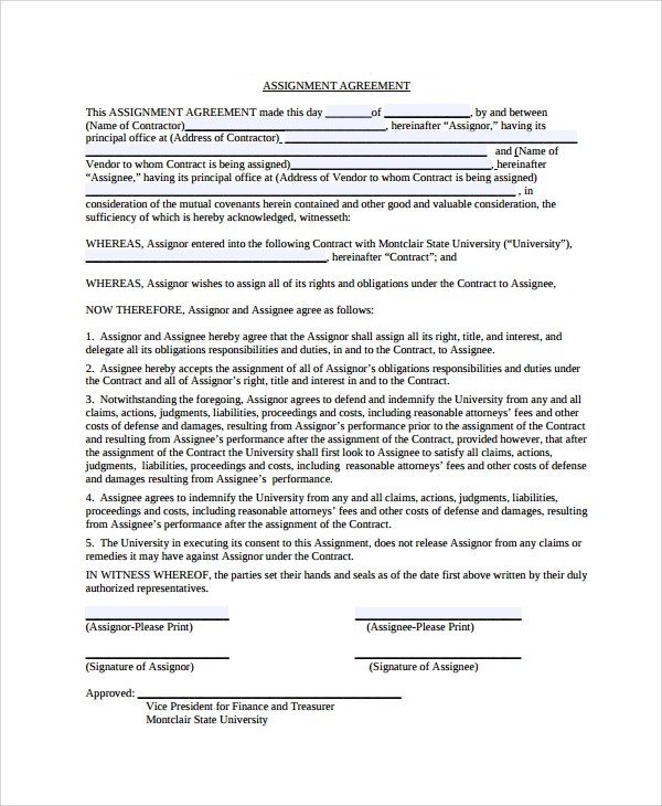 Assignment contract Essay Academic Service - assignment of contract