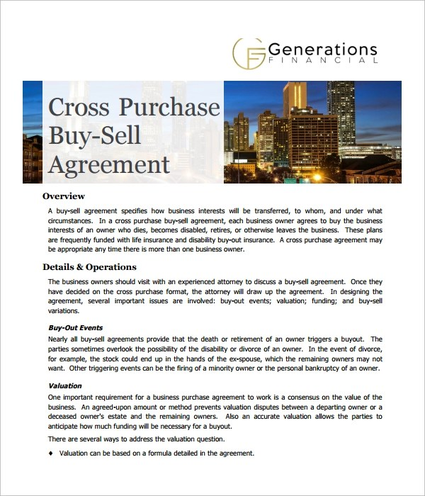 Cross Purchase Agreement Template | Node2001 Cvresume.paasprovider.com
