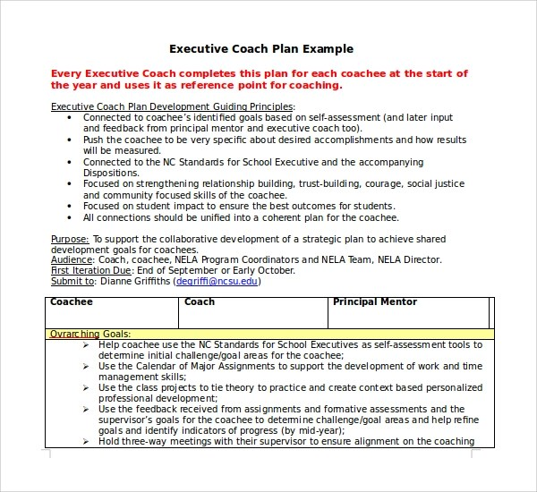 Sample Coaching Agreement Template  Create Professional Resumes