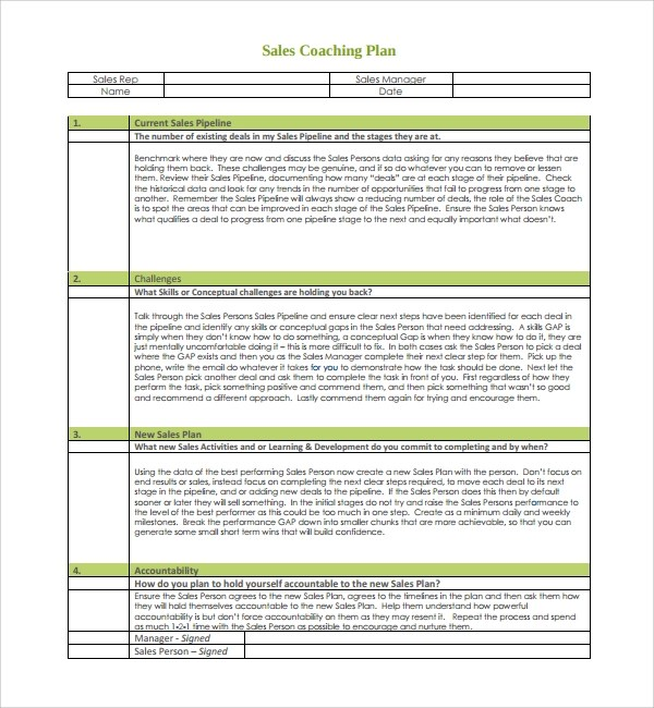 9+ Coaching Plan Templates \u2013 PDF, Word, Pages Sample Templates - coaching plan template