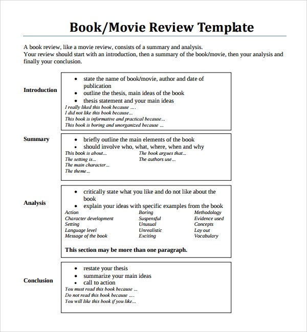printable book review template node2003-cvresumepaasprovider
