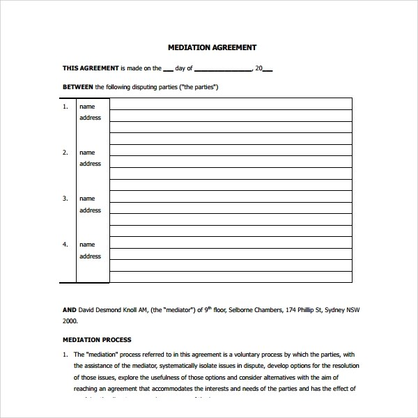 Business Settlement Agreement Sample | Resume Examples For Writing