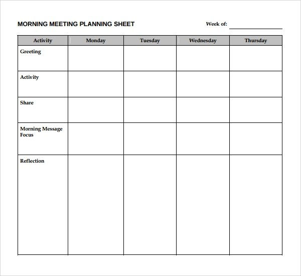 Sample Meeting Planning Template - 9+ Free Documents Download in - meetings template
