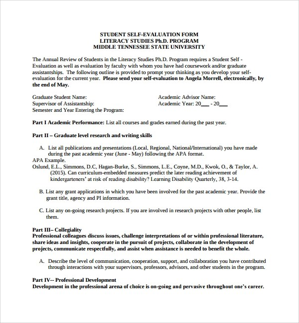 10+ Leadership Evaluation Forms Sample Templates