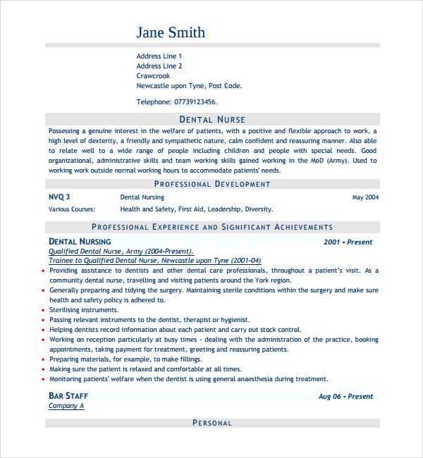 9+ Nurse CV Templates Sample Templates - nursing templates