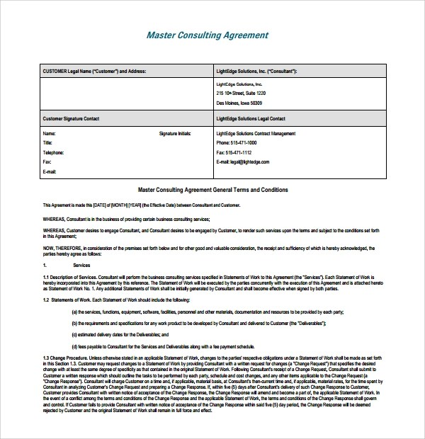 Business Consulting Agreements Consulting Agreement Template Word - consulting services agreement