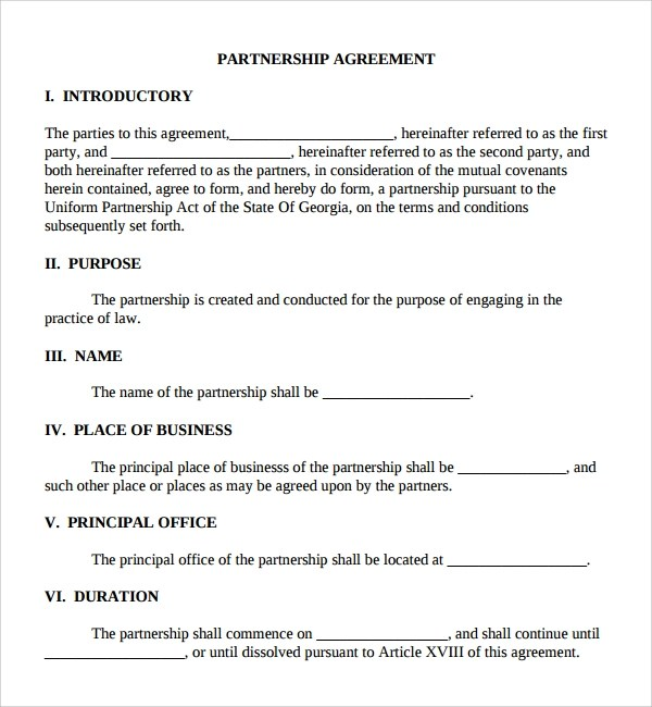 8+ Business Partner Agreements Sample Templates