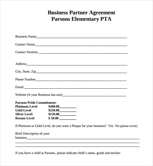 Sample Business Partner Agreement - 7+ Free Documents Download in