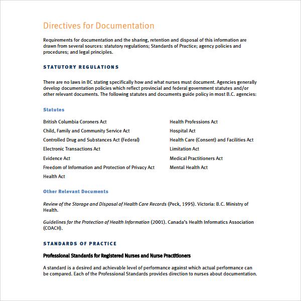 8+ Nursing Note Templates - PDF