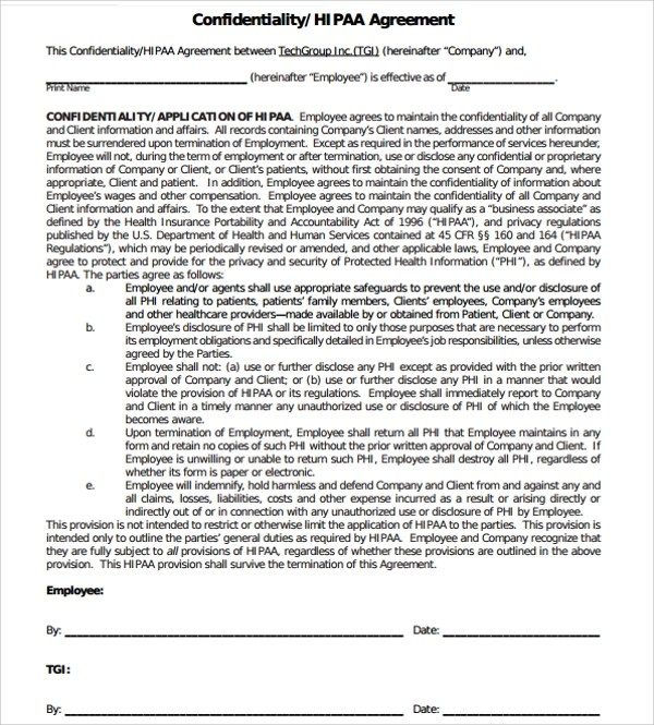 Data Confidentiality Agreement Template  Sample Cv Resume List