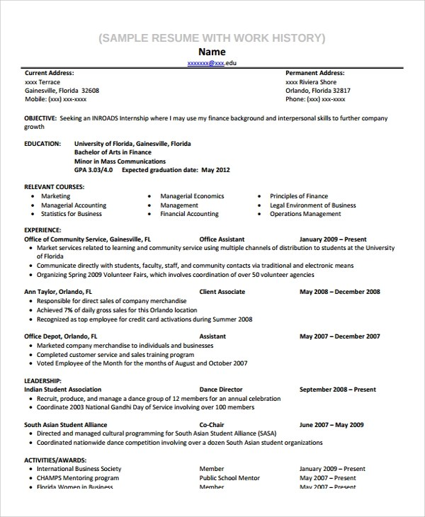 Example Of Educational Background In Resume  Template
