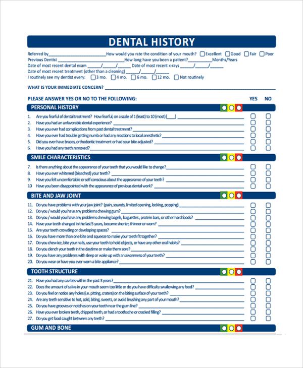 10+ Medical History Templates Sample Templates - Sample Medical History Form