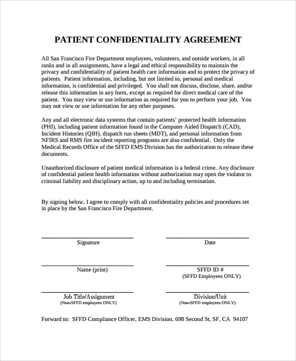 Personal Confidentiality Agreement Personal Assistant - contractor confidentiality agreement