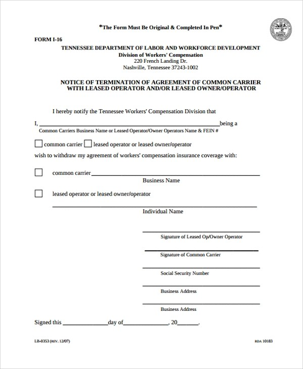 15+ Owner Operator Lease Agreements \u2013 Word, PDF Sample Templates