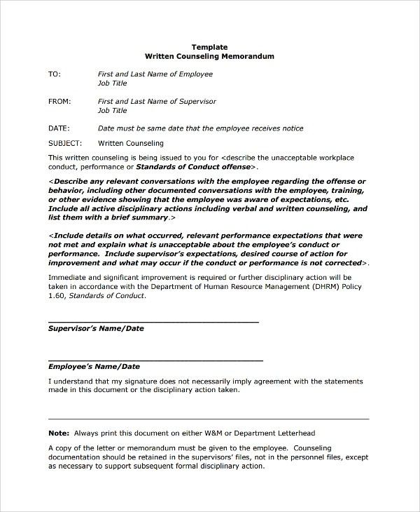 Gallery of Employee Memo Samples - Sample Memos For Employees