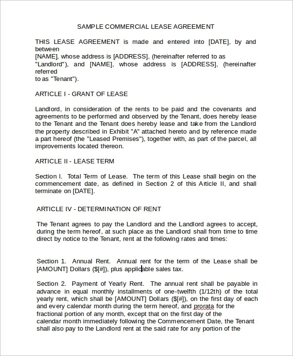business rental agreement - 28 images - commercial lease agreement - rental agreements