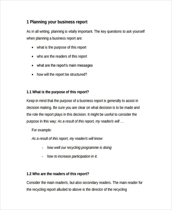 Sample Professional Report Template - 8+ Free Documents Download - company report template