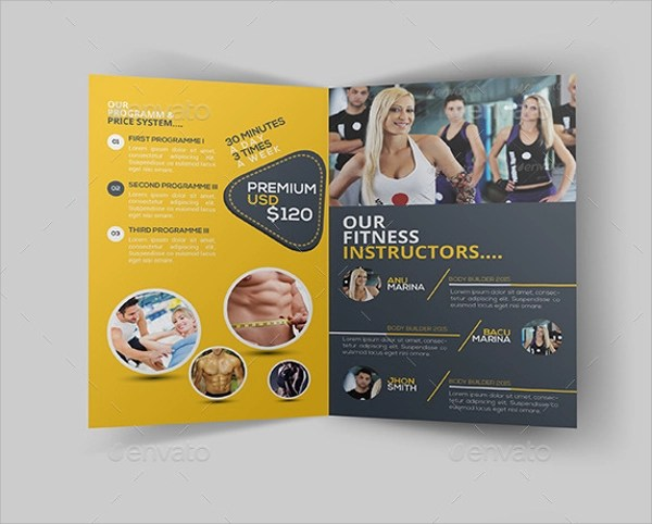 20+ Best Fitness Brochure Templates Sample Templates - Fitness Brochure