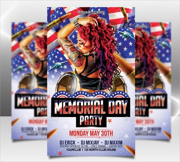20+ Memorial Day Flyer Templates Sample Templates