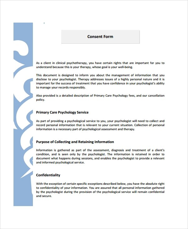 Cover letter informed consent psychological services ningessaybeme – Psychology Consent Form