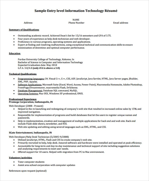 Student Resume Format Campus Interview Ut Tyler Career Services Resumes Resume Template Sample College Graduate Resume 8 Free Documents
