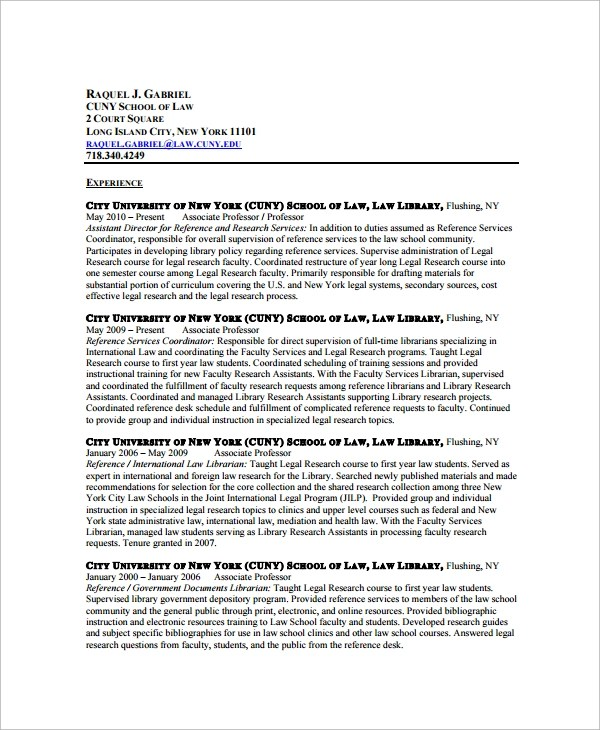 Sample Librarian Resume - 9+ Free Documents Download in Word, PDF