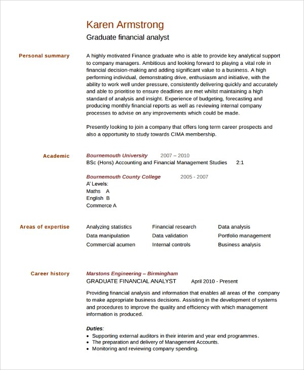 How To Handle Job Titles In A Business Analyst Resume Sample College Graduate Resume 8 Free Documents