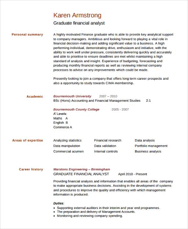 resume for college graduate template