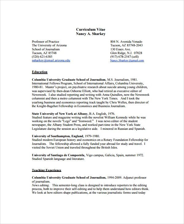 8+ Copy Editor Resume Templates Sample Templates - copy of a resume