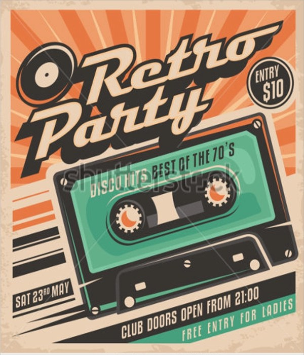 Retro Flyer Template Vintage Flyer Template Banner Or Price Card - retro brochure template