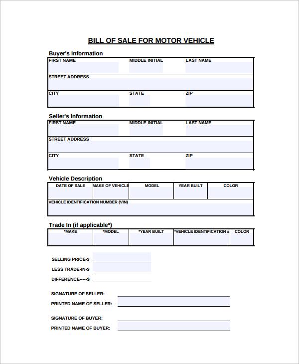 sample used car bill of sale xv-gimnazija