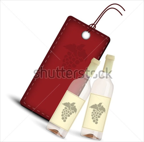 8+ Wine Tag Templates Sample Templates - wine tag template
