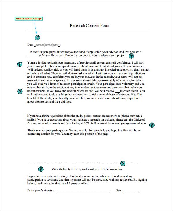 research form - Vocaalensembleconfianzanl - research consent form template