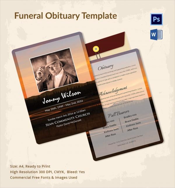 Free Obituary Template Free-Obituary-Template-Word-29 Jpg 11 - funeral obituary template