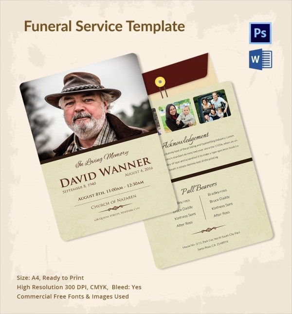 Funeral Service Template Template Invitation To Memorial Service