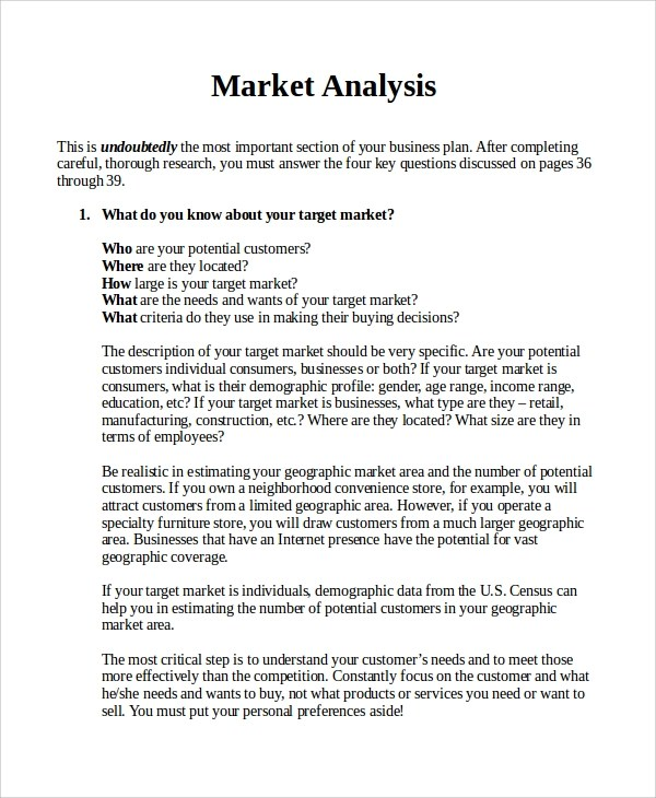 market analysis report sample - Funfpandroid - Sample Analysis Report