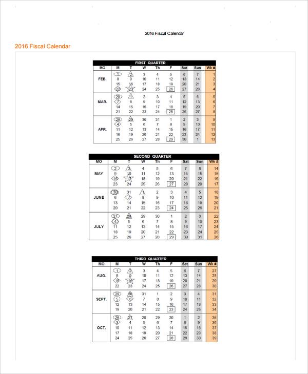 25+ Calendar Templates Sample Templates