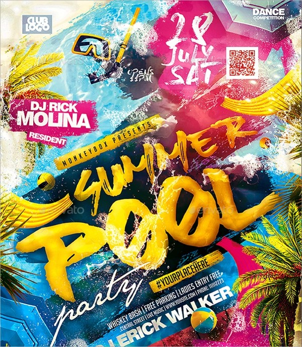 18+ Pool Party Flyer Templates Sample Templates