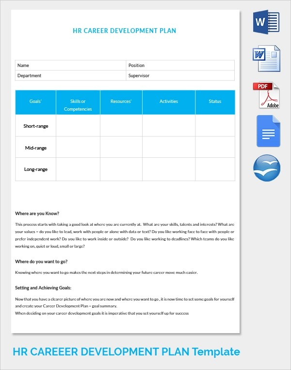 Sample HR Strategy - 16+ Documents in PDF - career progression plan template