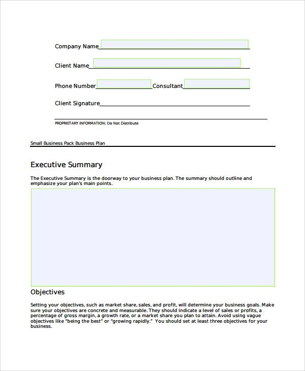 business plan title page sample
