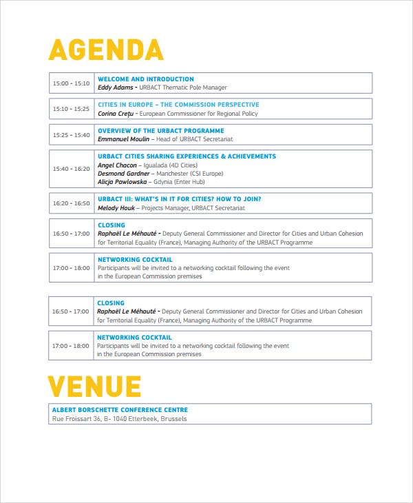 event agenda template - Onwebioinnovate