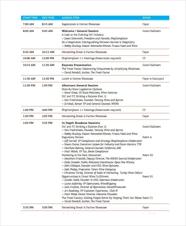 Conference Agenda FinalConferenceAgenda Insurance Brokers - event agendas