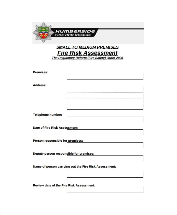 Free Risk Assessment Template  NodeResumeTemplate