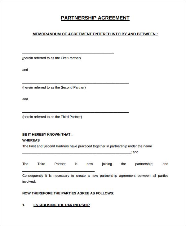 Partner Contract Sample  EnvResumeCloudInterhostsolutionsBe