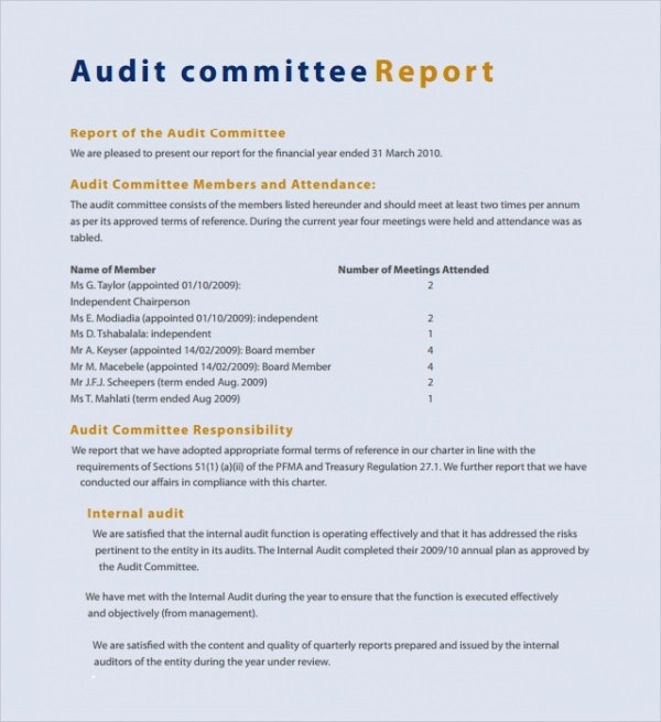 10+ Committee Report Templates - Docs, Pages, PDF, Word