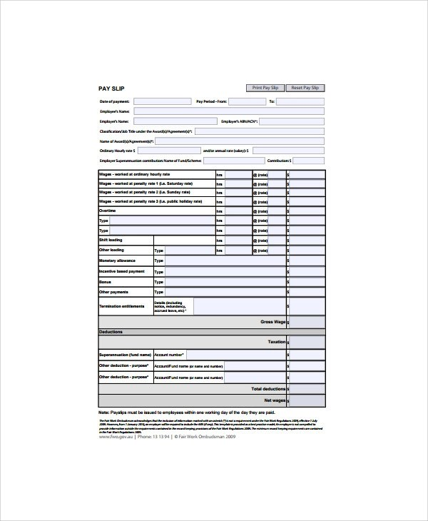 Funky Wage Slips Template Vignette - Examples Professional Resume ...