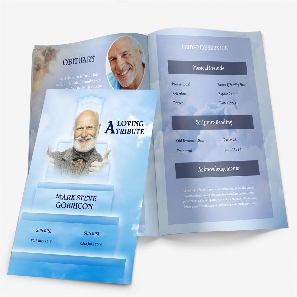 ... Sample Father Funeral Program   11+ Documents In PDF, PSD, WORD   Father  ...