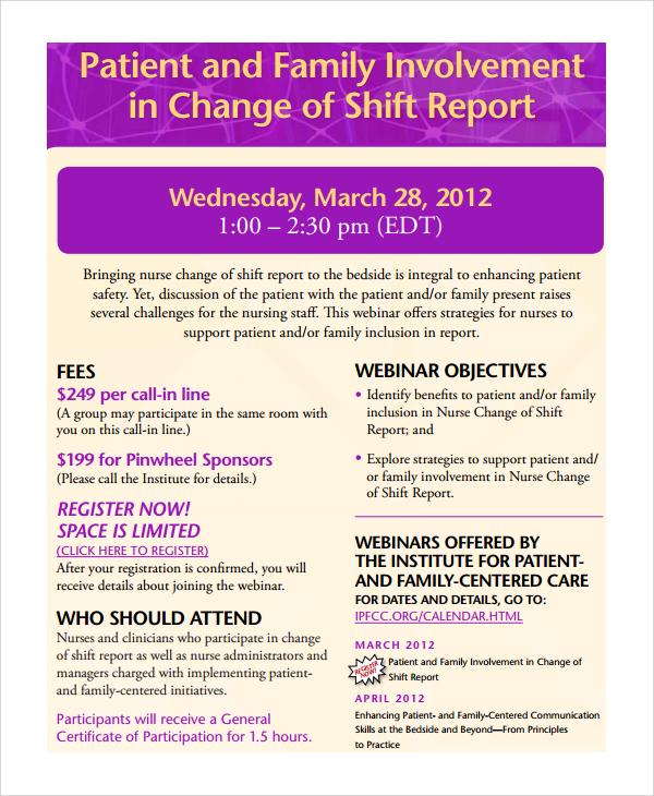 shift change template