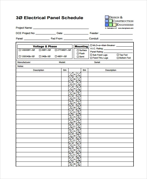 Sample Panel Schedule Template - 7+ Free Documents Download in PDF
