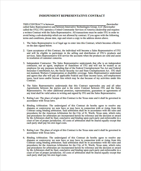 Sales Agency Agreement Template Colbro